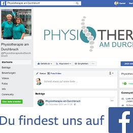 Physiotherapie am Durchbruch bei Facebook